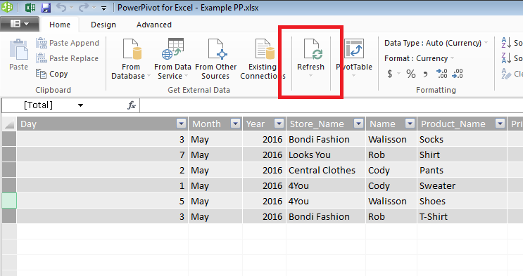 Connecting to external database